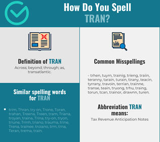 Correct spelling for Tran