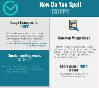 Correct spelling for Tripp
