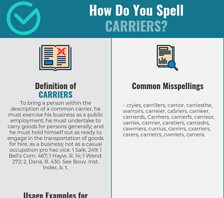 Correct spelling for Carriers
