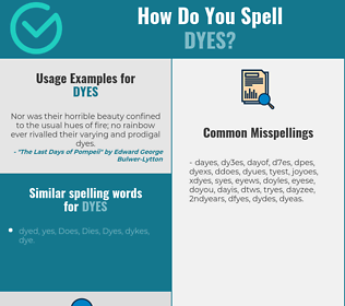 Correct spelling for Dyes