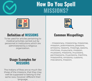 Correct spelling for Missions