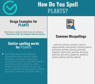 Correct spelling for Plants