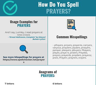 Correct spelling for Prayers