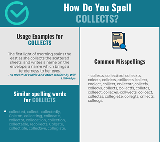 Correct spelling for collects