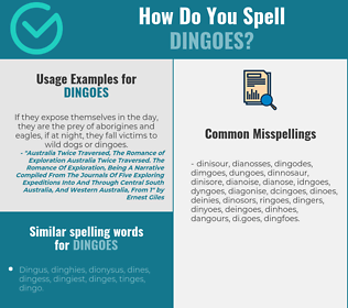 Correct spelling for dingoes
