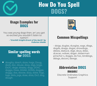 Correct spelling for dogs