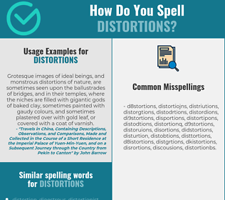 Correct spelling for distortions