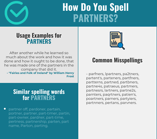 Correct spelling for partners