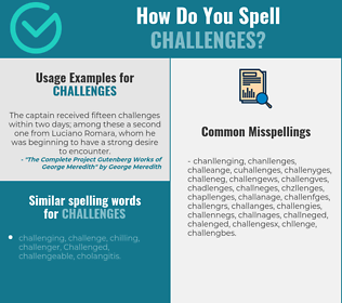 Correct spelling for challenges