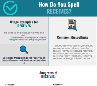 Correct spelling for receives