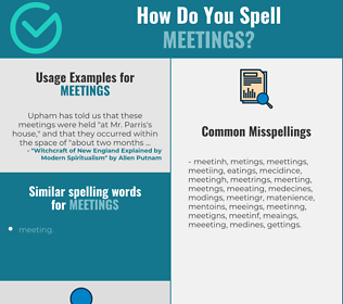 Correct spelling for meetings