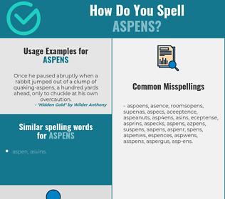 Correct spelling for aspens