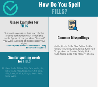 Correct spelling for fills