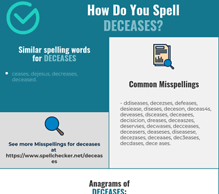 Correct spelling for deceases