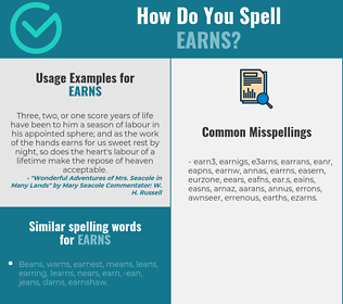 Correct spelling for earns
