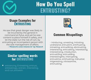 Correct spelling for entrusting