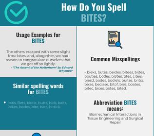 Correct spelling for bites