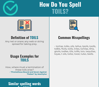 Correct spelling for toils