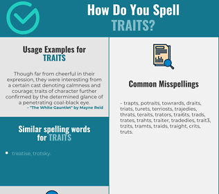 Correct spelling for traits