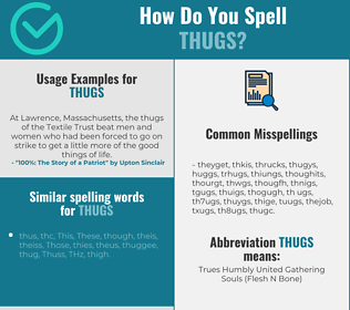 Correct spelling for thugs