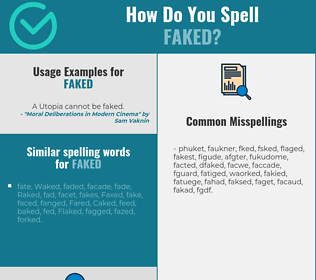 Correct spelling for faked