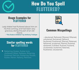 Correct spelling for fluttered