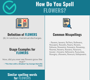 Correct spelling for flowers