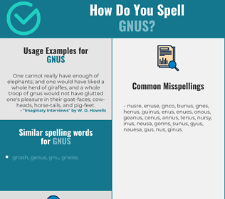 Correct spelling for gnus