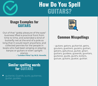 Correct spelling for guitars