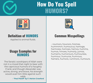 Correct spelling for humors