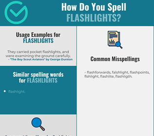 Correct spelling for flashlights