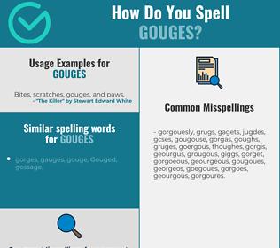 Correct spelling for gouges