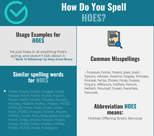 Correct spelling for hoes