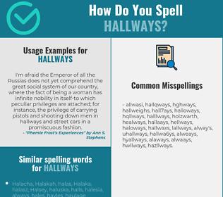 Correct spelling for hallways