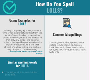 Correct spelling for lolls