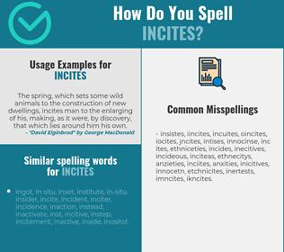 Correct spelling for incites
