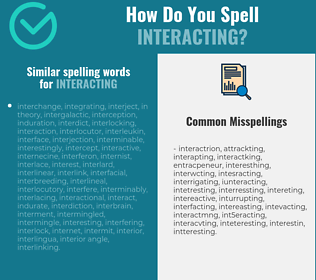 Correct spelling for interacting