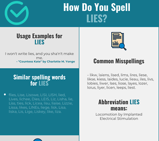 Correct spelling for lies