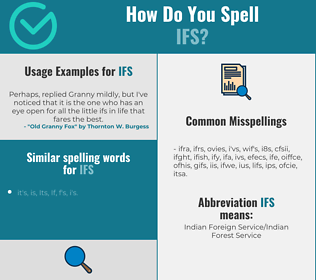 Correct spelling for IFS