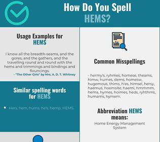 Correct spelling for HEMS