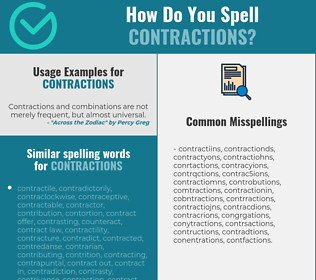 Correct spelling for contractions