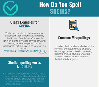 Correct spelling for sheiks