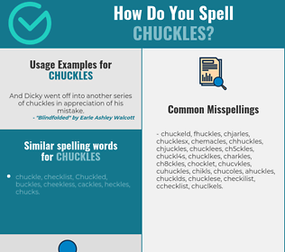 Correct spelling for chuckles