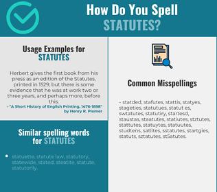 Correct spelling for statutes