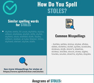 Correct spelling for stoles