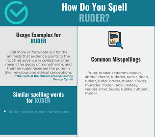Correct spelling for ruder