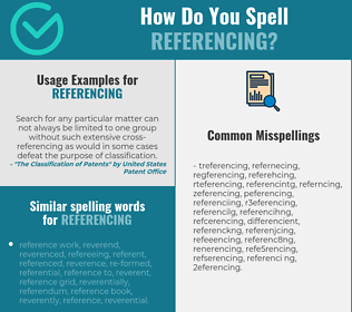 Correct spelling for referencing