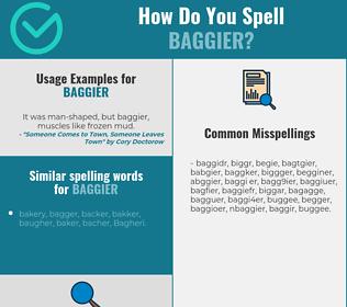 Correct spelling for baggier