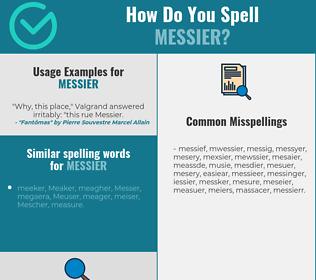 Correct spelling for messier