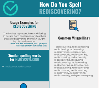 Correct spelling for rediscovering